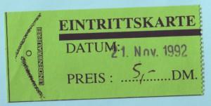 Ticket Ton Festival 1992